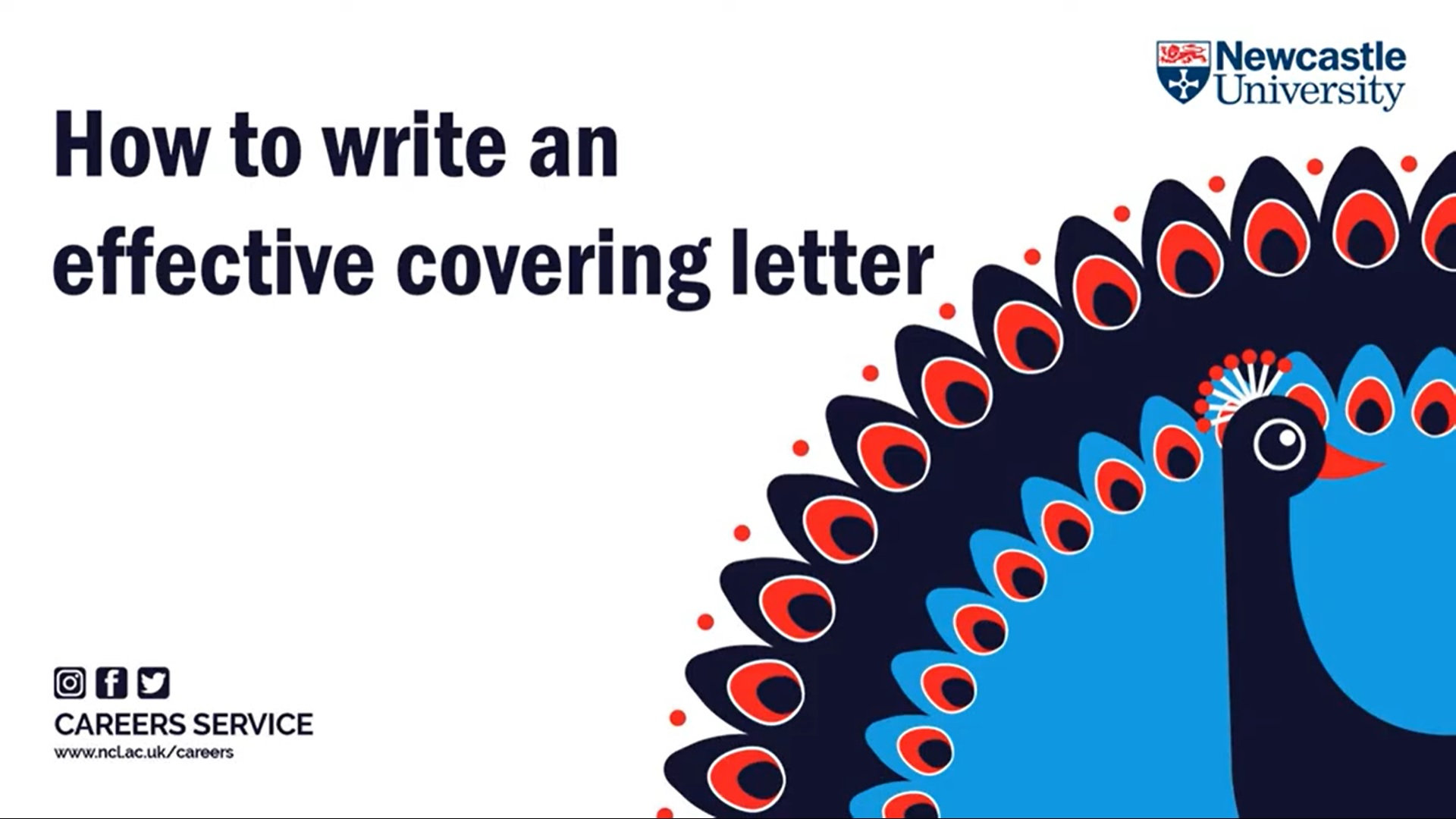 Title slide from our how to write an effective covering letter presentation