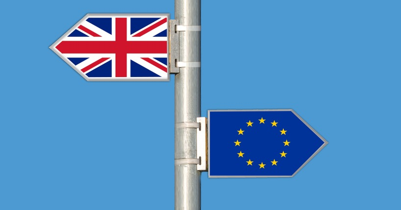 Rural business opportunities will change with Brexit. The picture displays a signpost with Britain and Europe going in opposite directions.