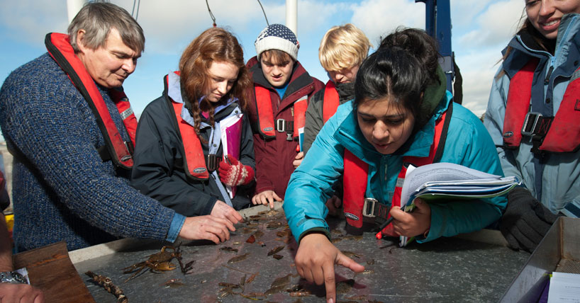 Learning and Teaching: Marine Science students