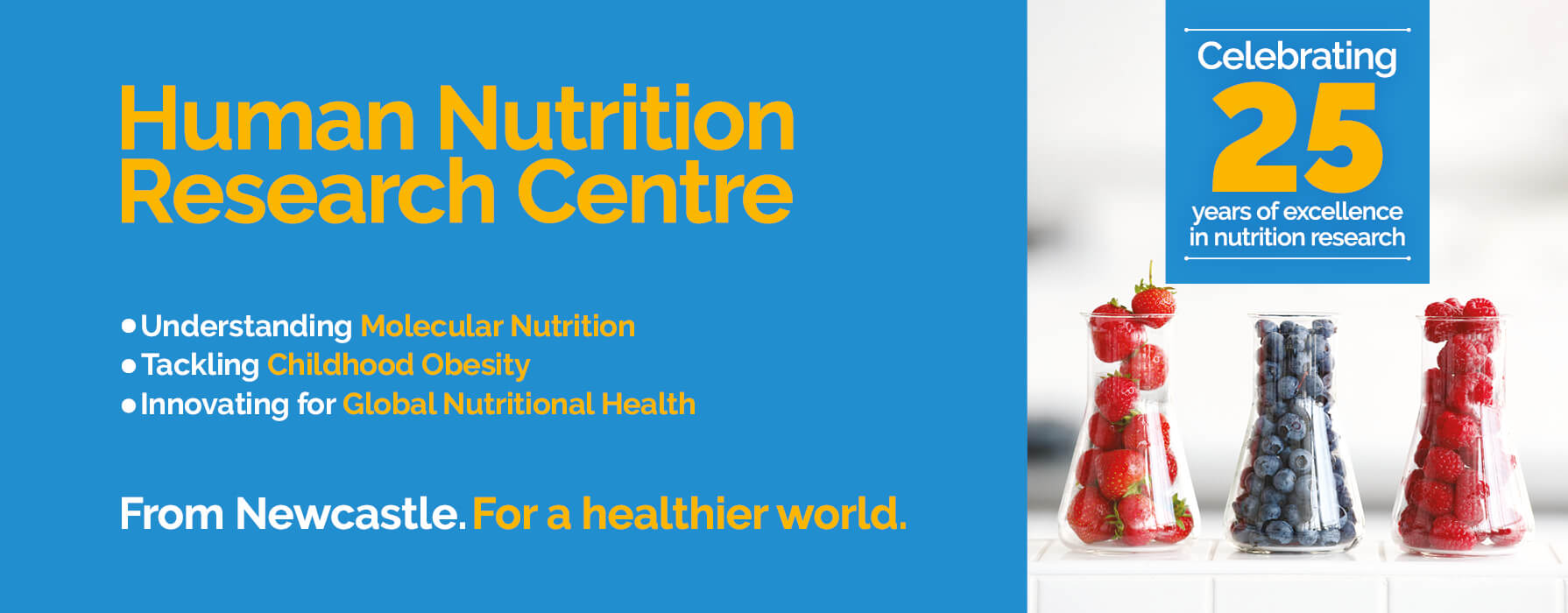 logo for 25 years of the Human Nutrition Research Centre