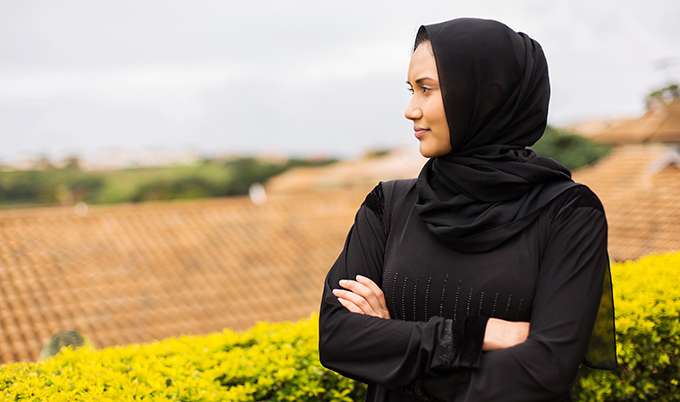 An image of a Muslim woman