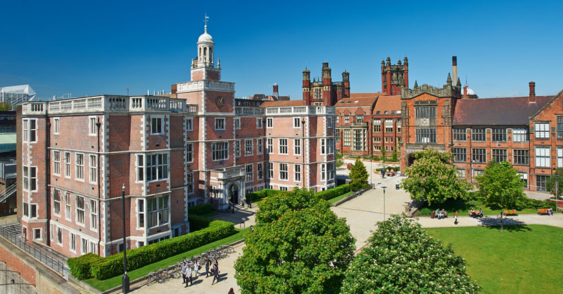 Newcastle University campus - aerial