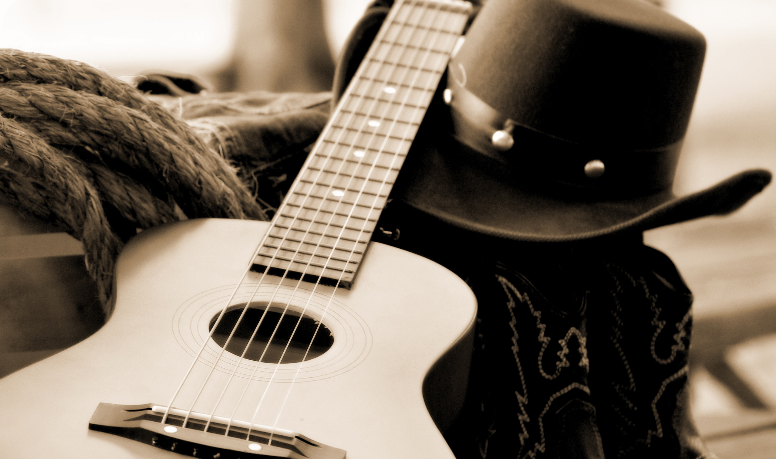 to wear - Boots cowboy and hat and guitar photo video