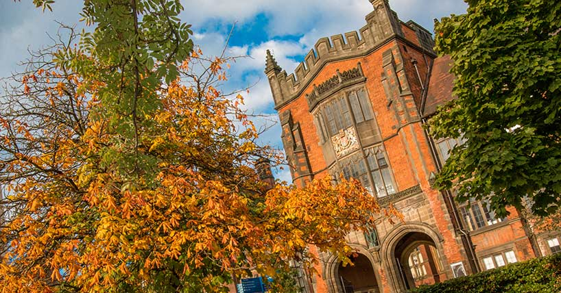 Newcastle University campus in the autumn, Arches