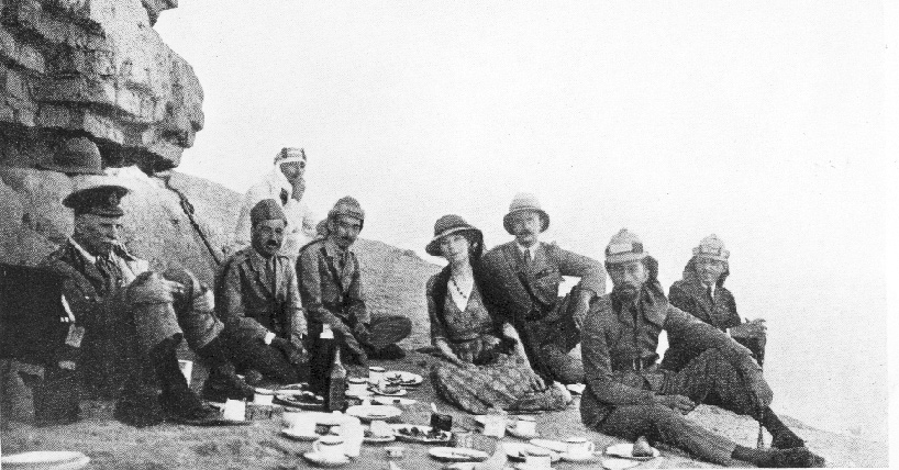Picnic Party at Ctesiphon - seated party includes Gertrude Bell and King Faisal. Copyright Gertrude Bell Archive.