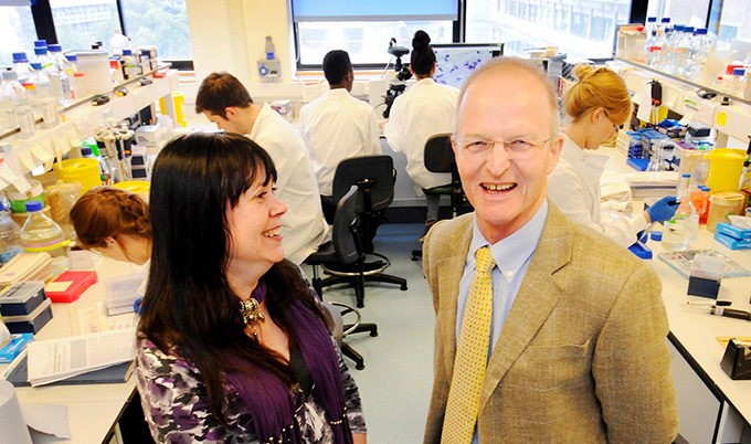 Nicola Parker and Doug Turnbull, Professor of Neurology and a consultant at Newcastle Hospitals NHS Foundation Trust, Newcastle University