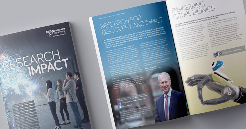 image of the printed copy of the research impact brochure