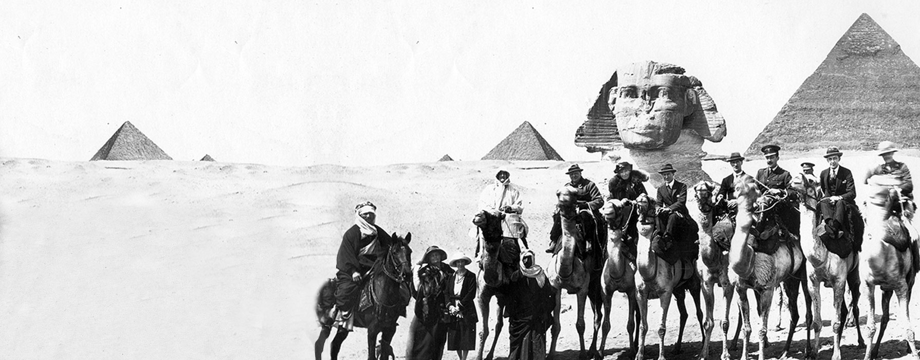 Gertrude Bell archive image of the Pyramids