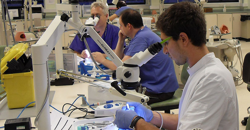 Postgraduate study includes research into a variety of dental fields including endodontology.