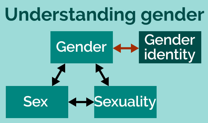 Understanding gender: Gender is interlinked with sex and sexuality, and also with gender identity. Gender identity does not link to sex and sexuality.