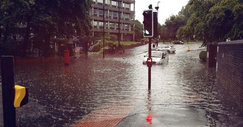 Flooding at Newcastle University