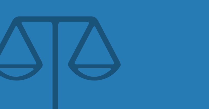 A simple illustration of some scales, used to represent law and justice.