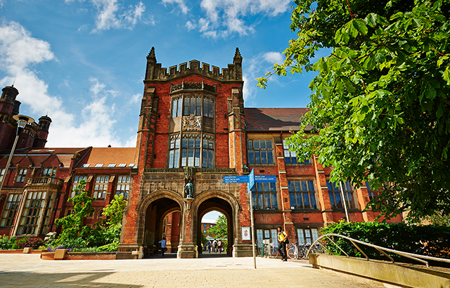 The Arches with a view through to the Quadrangle at Newcastle University.