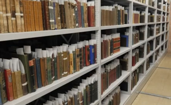 Bookshelves in Special Collections