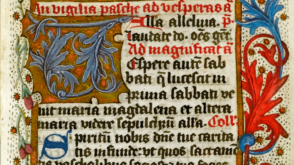 Illuminated manuscript with a decorative border