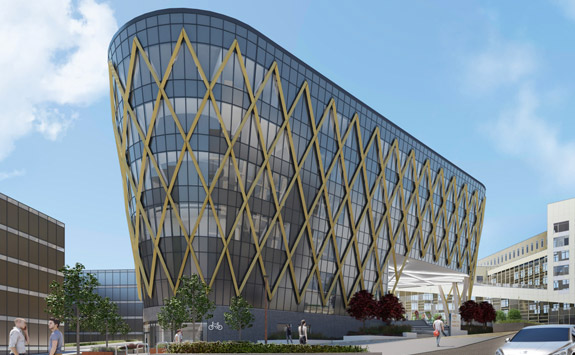 CGI image of The Catalyst building