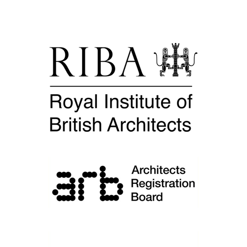 Royal Institute of British Architects (RIBA) and the Architects Registration Board (ARB) logos
