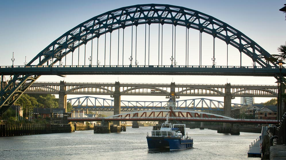 The Princess Royal research vessel sails on the River Tyne