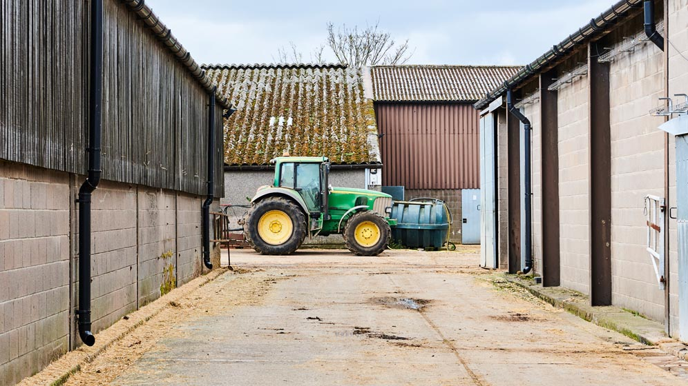 A tractor at Cockle Park Farm