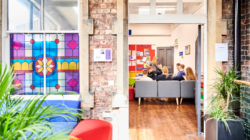 Our student common room offers an informal space for discussion about the subjects outside of lectures and seminars.
