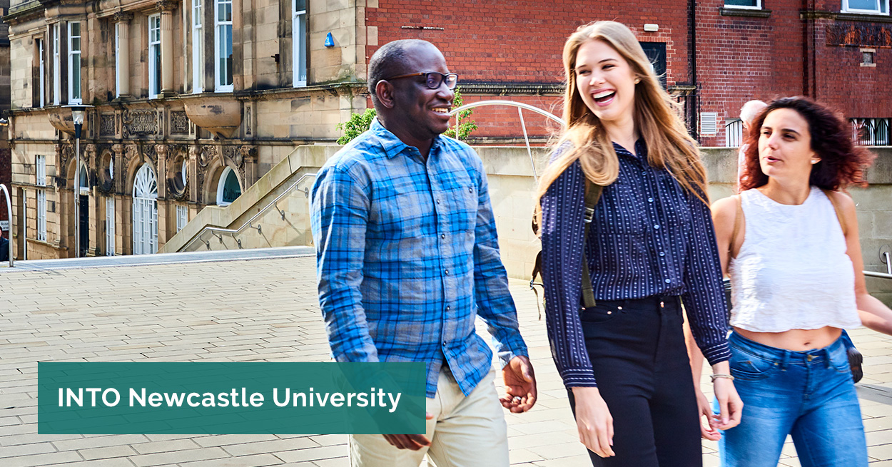 International students on Newcastle campus.